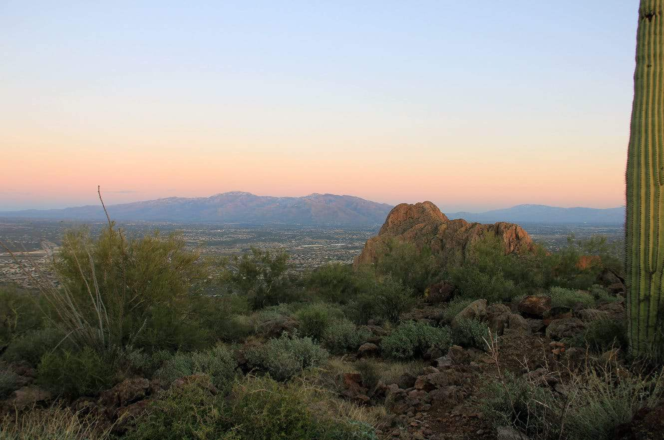 The view of Tucson from Panther's Peak.