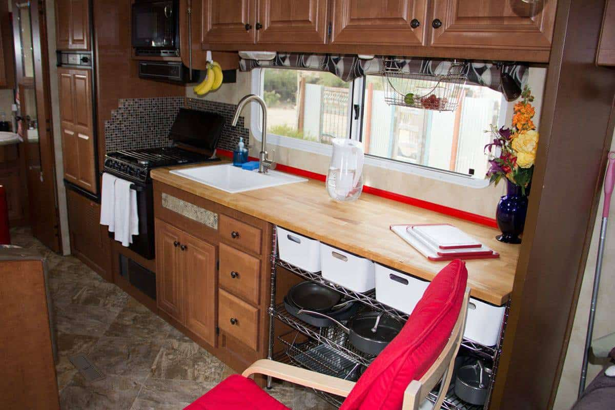 My Northwood Arctic Fox kitchen after renovations